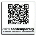 Dallas Contemporary QR Code sticker
