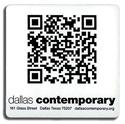 Dallas Contemporary QR Code sticker